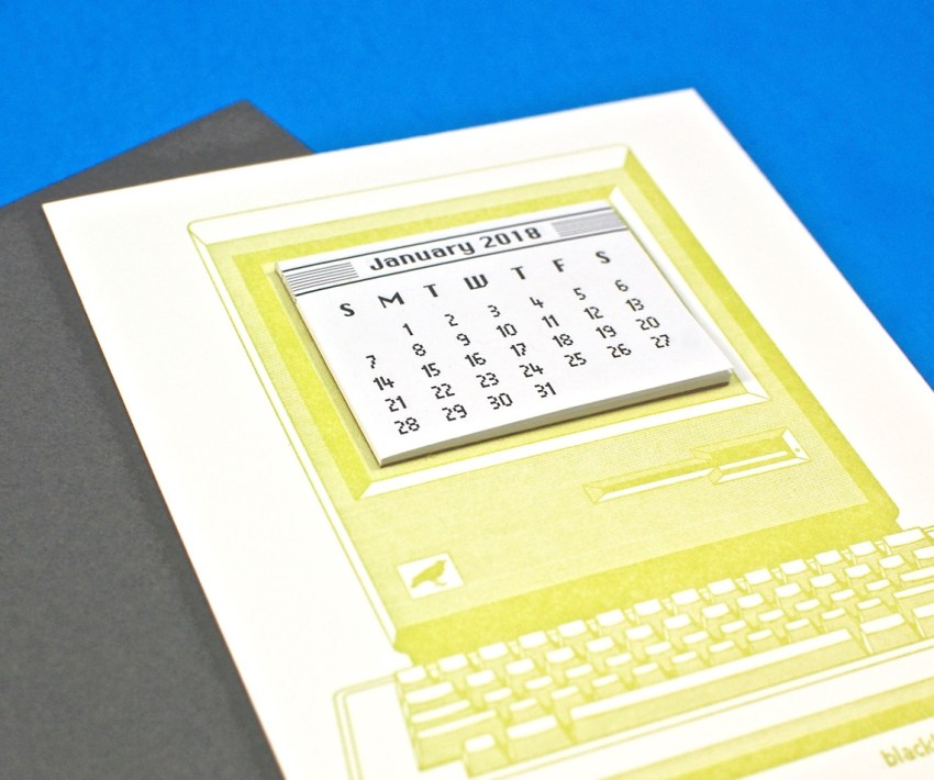 computer calendar card