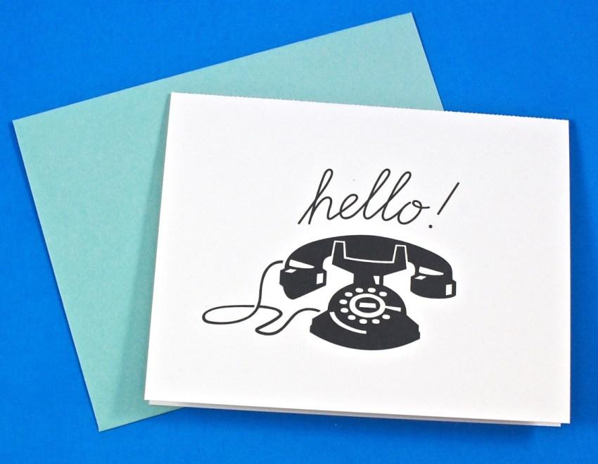 Hello interactive phone card