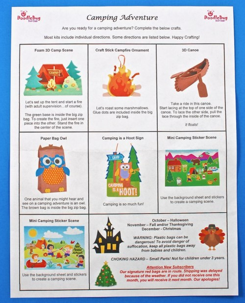 September 2017 Doodlebug Busy bag review