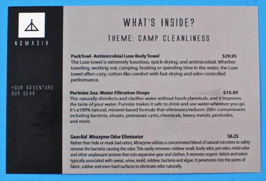 Nomadik box contents