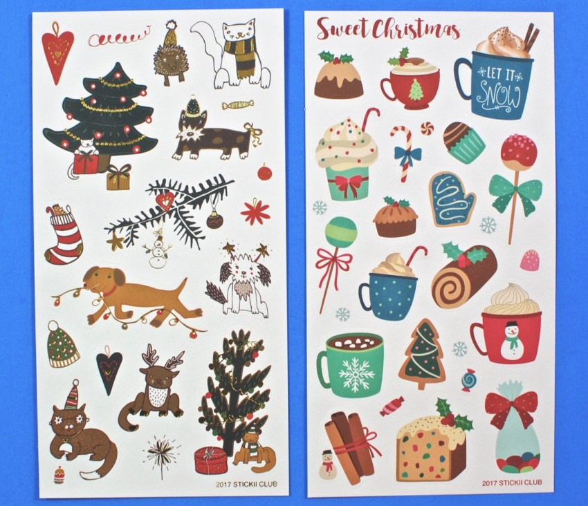 christmas stickers