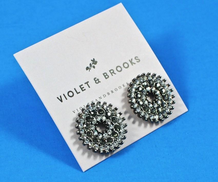 mosaic crystal earrings