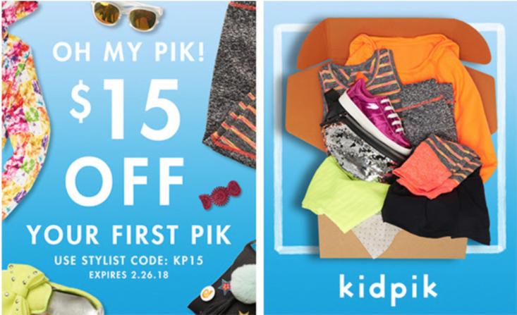Kidpik Coupon Code – Save $15 on Your First Box + More