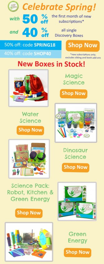 Green Kid Crafts March 2018 Coupon Code – 50% Off First Box!
