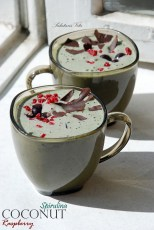 coconut raspberry spirulina smoothie