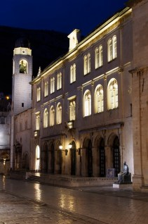 The Bell Tower and City Hall in Dubrovnik.