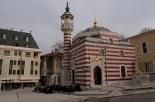 Friday prayers at a small mosque near Hagia Sophia.