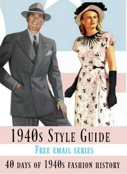 1940 Clothing for Women and Men   40s Fashion History 1940s style Guide  40 days of 1940s fashion free email series  Women s and  men s