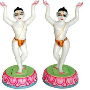 Gaura Nitai Marble Deity / Statue / Murti 12 Inches Fine Finishing