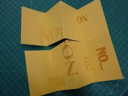 four folds, one cut