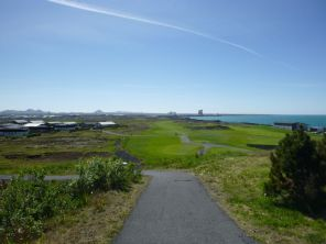 other part of the golf course and view toward the aluminum smelter