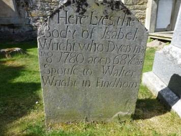 Old English on a gravestone.