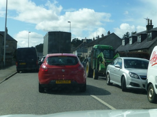 Why wouldn't you bring the tractor to town?