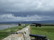 Gun emplacements.