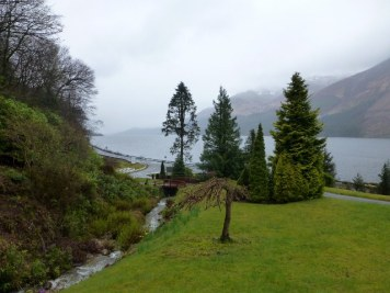View from front of Corriegour Lodge over Loch Lochy.