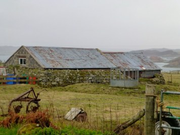 Great, great Grandfather's house, the thatch has been replaced by corrugated iron.