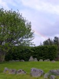 Rainbow above the Stone Circle.