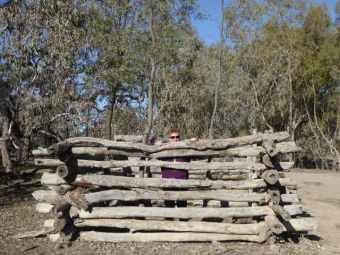 In the stockade