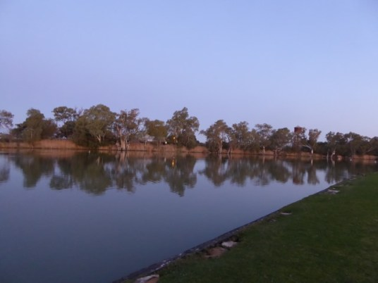 View from Willow Bend Caravan Park, Wentworth