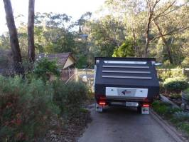 Avoid the fence post and the ramp for the carport.