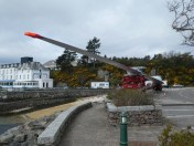 Blade of a wind tower ready to be taken across the bridge to Skye when the road is cleared.
