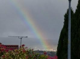Rainbow over Inverness.
