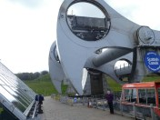 Falkirk Wheel from ground level.
