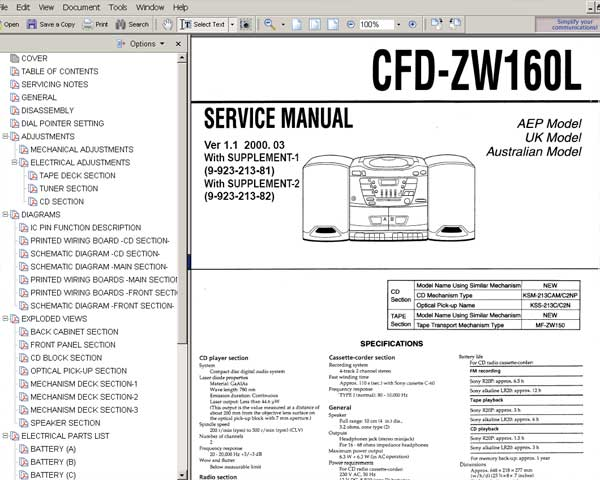 Sony Cfd-5200 Manual