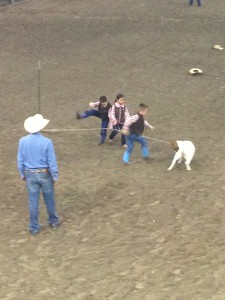 Randy Silguero Supervises the Little Ranch Hand Rodeo Branding Event