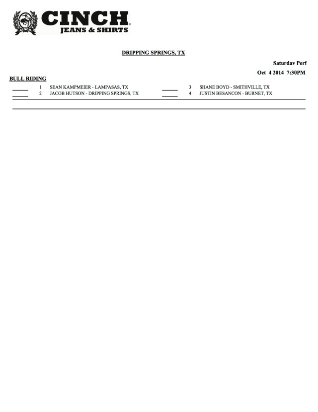 Dripping Springs Day Sheets 5 of 5