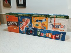 Breakfast cereal at Milton Keynes City Stay apartment
