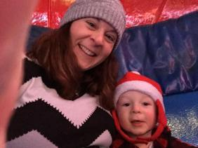 Mommy & Jimmy on Tilt-a-Whirl
