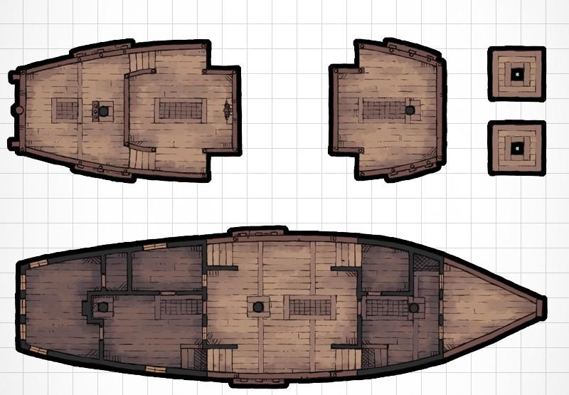 galleon sailing ship map