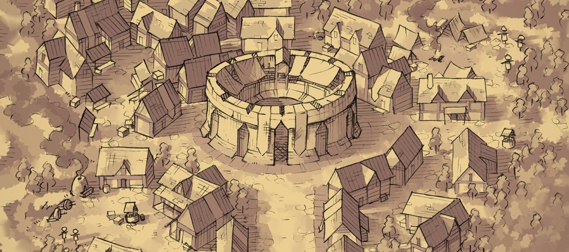 Greybanner City (parchment)
