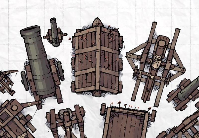 Castle Siege Weapon Tokens Props