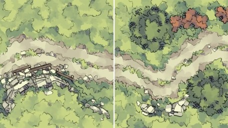 Roadside Rise & Wilderness Battle Maps