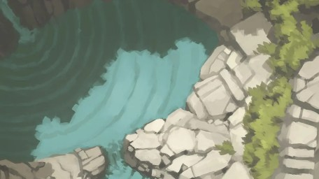 Tranquil Waterfall Battle Map (Banner)