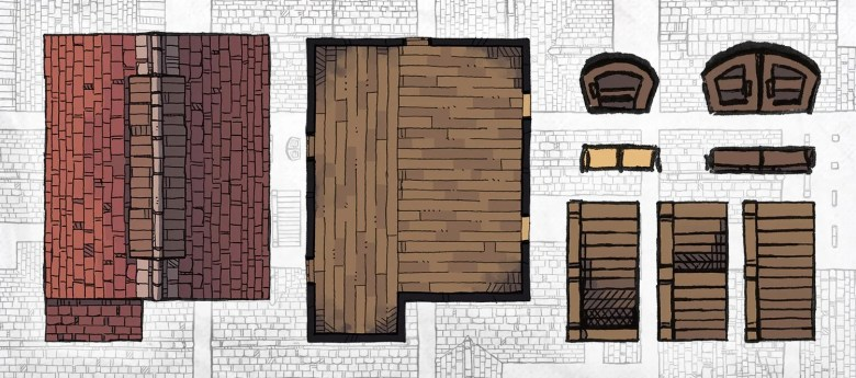 Buildings Pack RPG maps tokens, banner