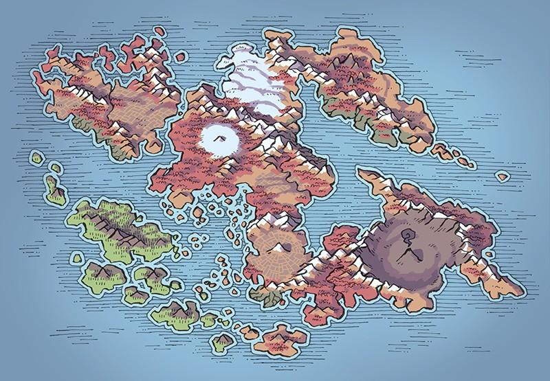 Wei Continent RPG World Map, autumn