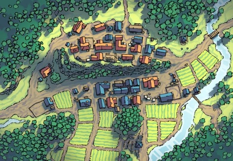 Poacher's Crest RPG Town Map, summer