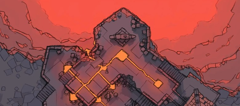 Volcanic Forge RPG Battle Map, banner