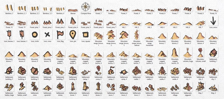Wonderdraft Map Icons, banner, parchment