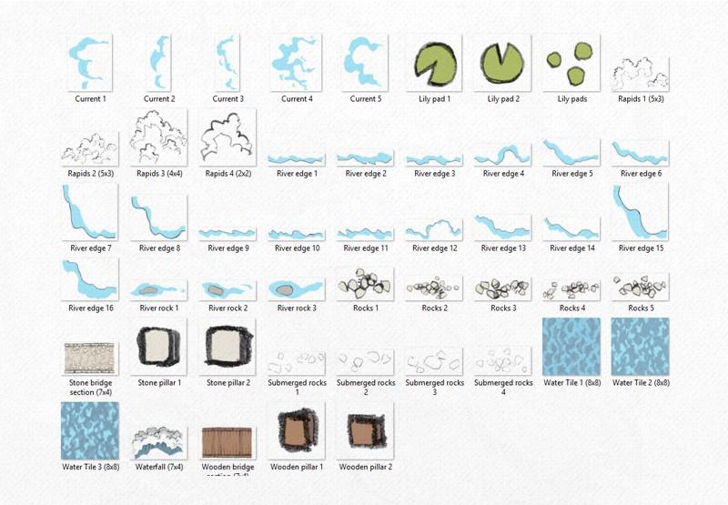 River & Water RPG Textures & Assets, asset files