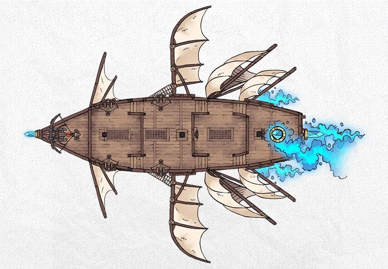 Airships & Assets RPG Graphics, Magical Airship