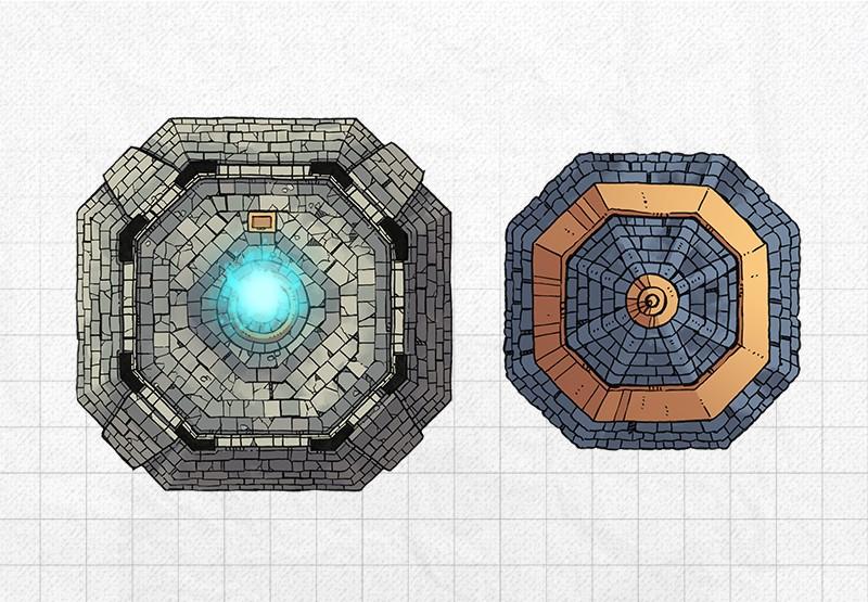 Lighthouse RPG battle map, roof