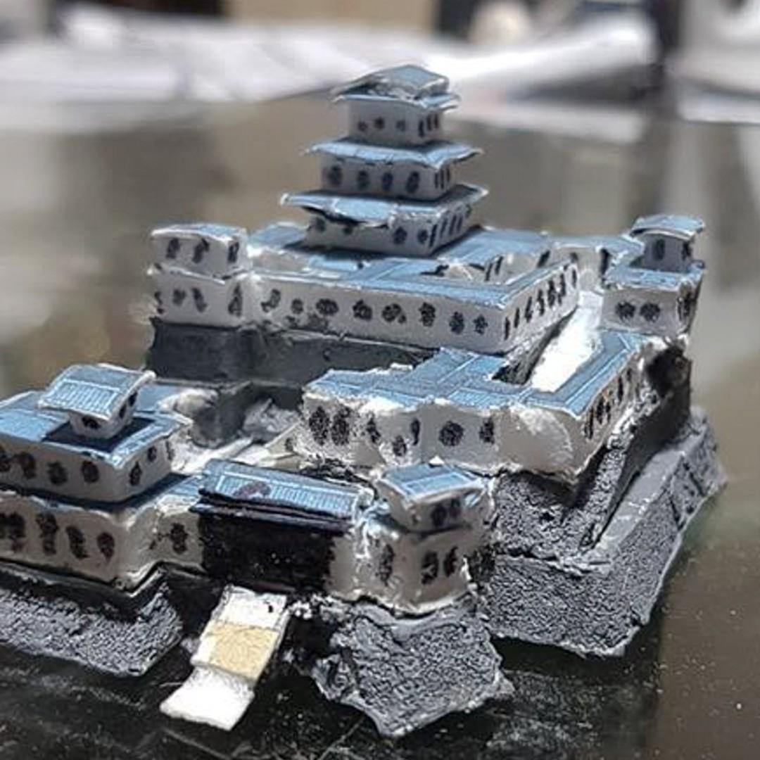Japanese Samurai Castle Battle Map Model 1