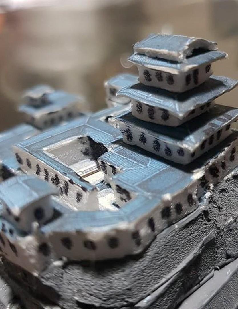 Japanese Samurai Castle Battle Map Model 5