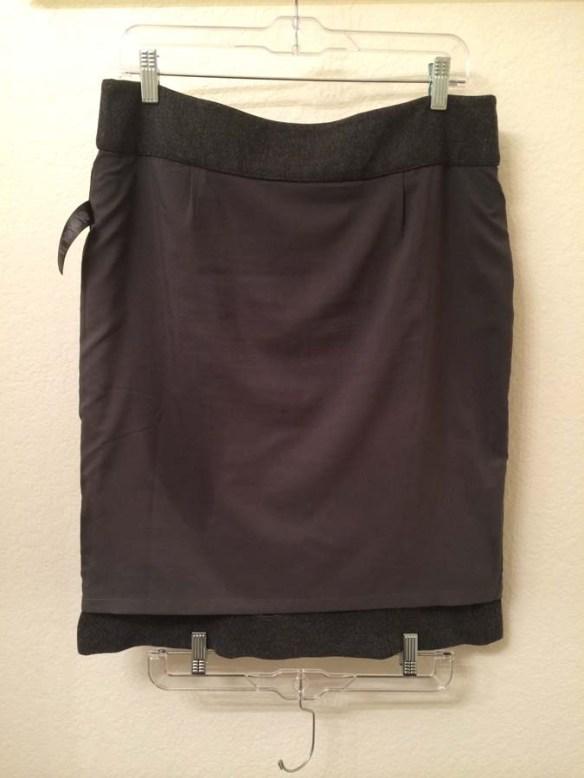 Unshrunk skirt