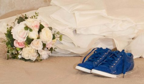 Theresa Blue Bridal Shoes