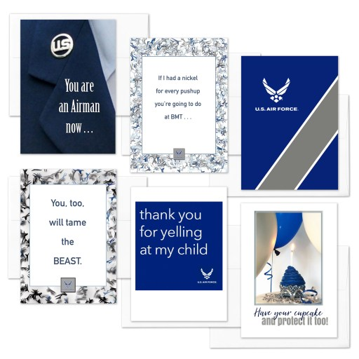 An Airman Now Mixed Pack of Military Encouragement Greeting Cards by 2MyHero